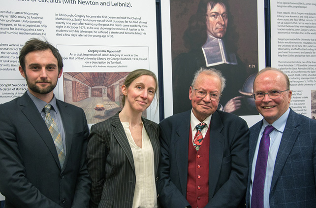 John Brooke (3rd from left) with Andrew Torrance, Judith Wolfe and Eric Priest