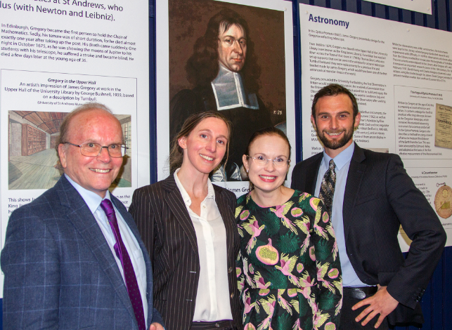 Anne Pessi with the James Gregory Lecture organisers